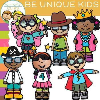 Be Unique Kids Clip Art