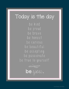 Be You Inspirational Poster