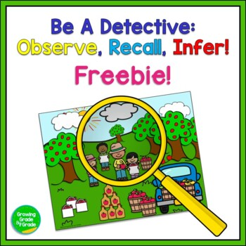 Inferences: Be a Detective - Observe, Remember, Infer! Freebie