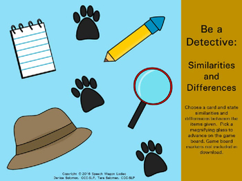 Be a Detective: Similarities and Differences