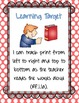 "Be a Print Tracker! (for CCSS Unit 1, ""Alphabet Books & Ch"