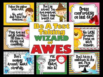 Be a Test Taking Wizard of AWES-Test Prep Bulletin Board