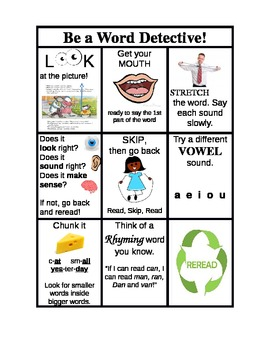 Be a Word Detective! - Reading Strategies for First Graders