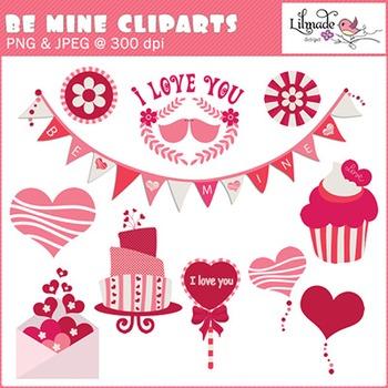 Be mine Valentine clip arts