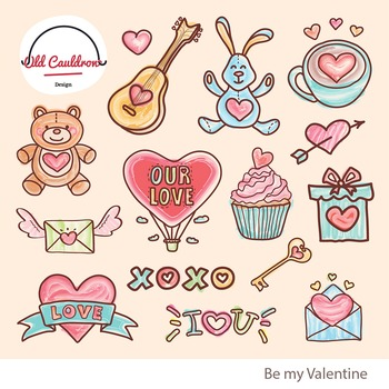 Be my Valentine clipart, valentine cliparts CL022