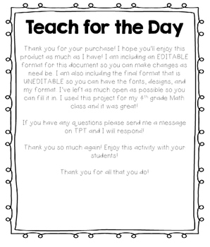 Be the Teacher for the Day! (Student Led Project!)