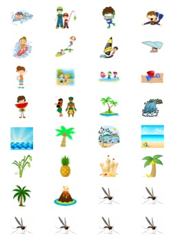 Beach Activities Suspenseful Original Game for Vocab Practice