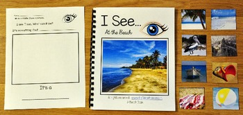 "Beach Adapted Book:  ""I See"" At the Beach"