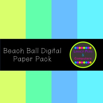 Beach Ball Digital Paper Pack