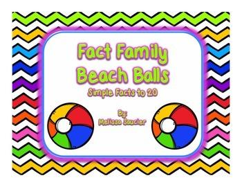 Beach Ball Fact Family {Freebie}