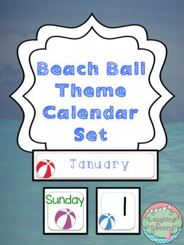 Beach Ball Themed Calendar Set