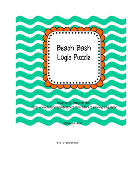 Beach Bash Logic Puzzle Level 3