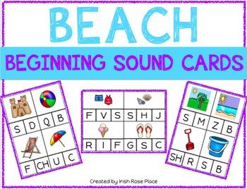Beach Beginning Sound Cards