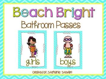 Beach Bright Bathroom Passes