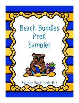 Beach Buddies PreK Printable Sampler Pack