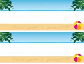 Beach Classroom Nameplates