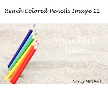 Beach Colored Pencils Image 12
