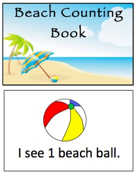 Beach Counting Book