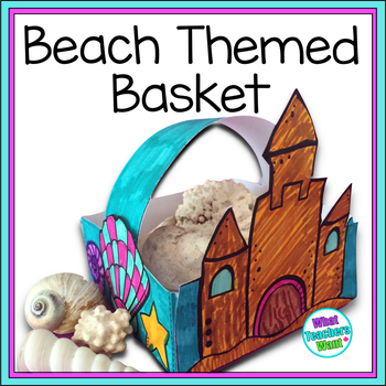 Beach Display Basket - For shells, pebbles and other beach