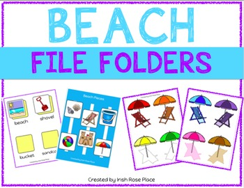 Beach File Folder Duo
