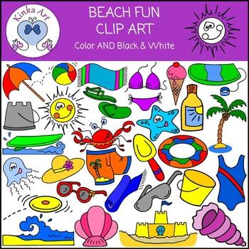 Beach Fun Clip Art
