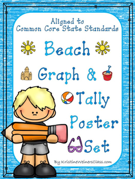 Graph and Tally Poster Set: Beach Pictures