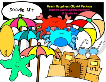 Beach Happiness Clipart Pack