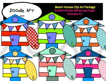 Beach Houses Clipart Pack