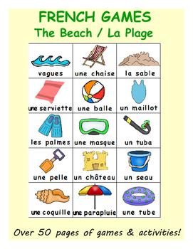 Summer at the Beach / L'été à la plage FRENCH Workbook & G