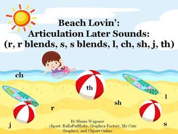 Beach Lovin' Articulation Sounds (r, r blends, s, s blends