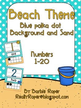 Beach Number Line 1-20
