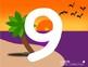 Beach Numbers Playdough Mats