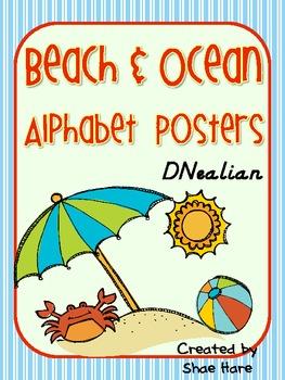 Beach & Ocean Alphabet Posters {ocean sand seashell} DNeal