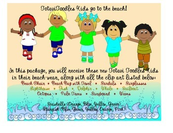 Beach Ocean Clip Art * Summer Fun *
