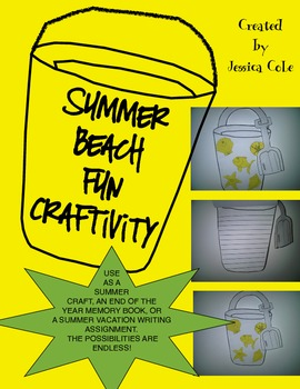 Beach Pail Craftivity (Multiple Uses)