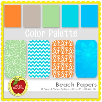 Beach Papers {Papers for Commercial Use}