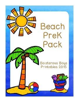 Beach PreK Printable Learning Pack