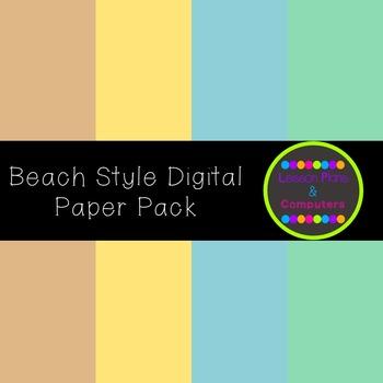 Beach Style Digital Paper Pack