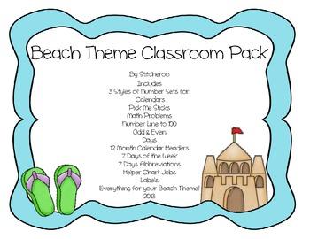 Beach Theme Classroom Pack