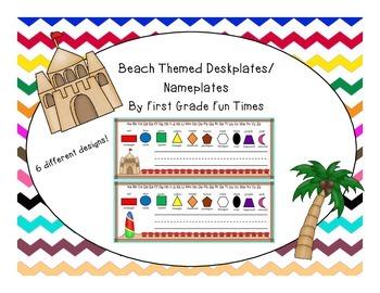 Beach Theme Deskplates or Nameplates
