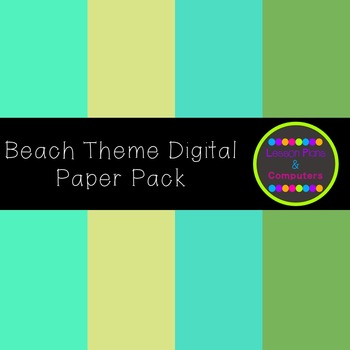 Beach Theme Digital Paper Pack