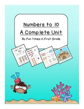 Beach Theme Numbers to 10 Unit