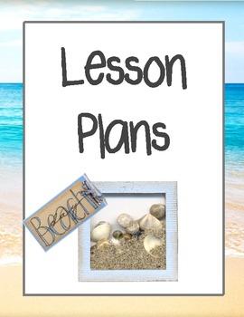 Beach Theme Teacher Binder Dividers and Beginning Year Inf