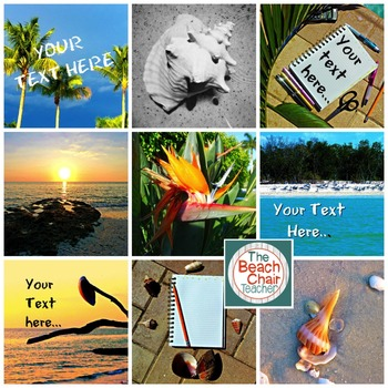 Beach Tropical Styled Images & Stock Photos SET #1