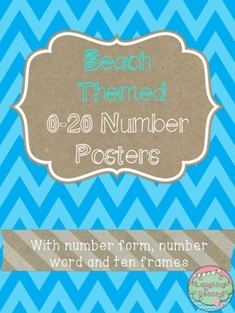 Beach Themed 0-20 Numbers Posters