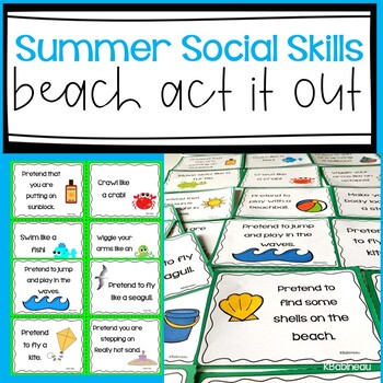 Beach Themed Act It Out! Fun and Active Social Skills Acti