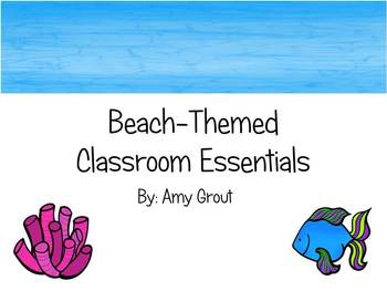 Beach-Themed Classroom Essentials
