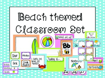 Beach Themed Classroom {Everything Included!}