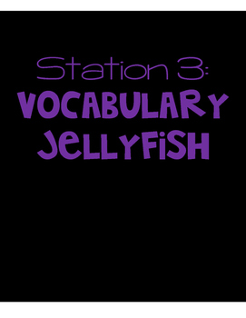 Beach Themed End of the Year Review Station 3 - Vocabulary
