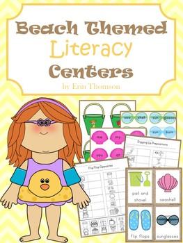 Beach Themed Literacy Centers